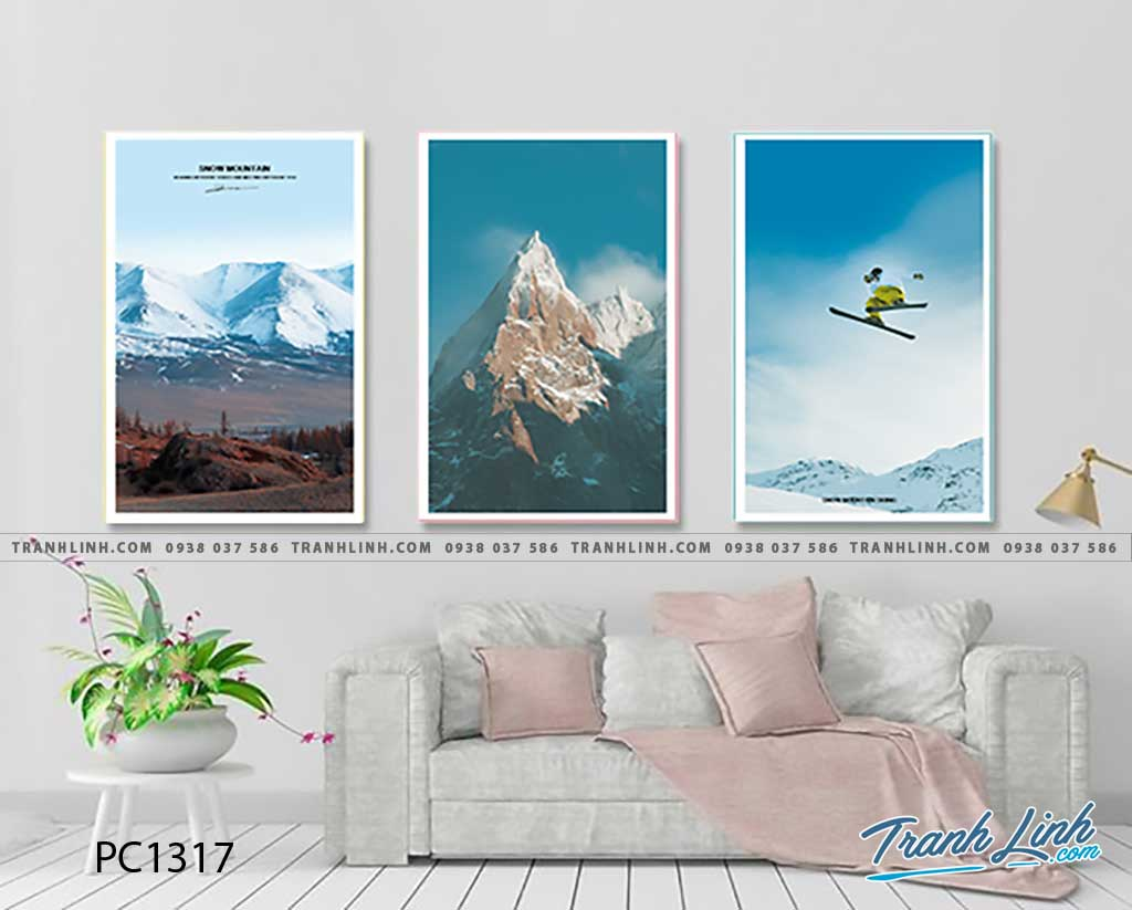 Bo tranh Canvas treo tuong trang tri phong khach phong canh PC1317