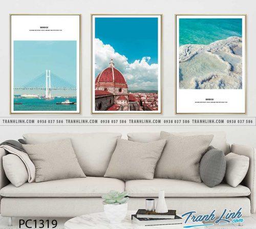 Bo tranh Canvas treo tuong trang tri phong khach phong canh PC1319