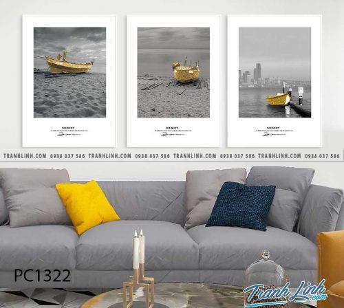Bo tranh Canvas treo tuong trang tri phong khach phong canh PC1322