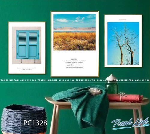 Bo tranh Canvas treo tuong trang tri phong khach phong canh PC1328