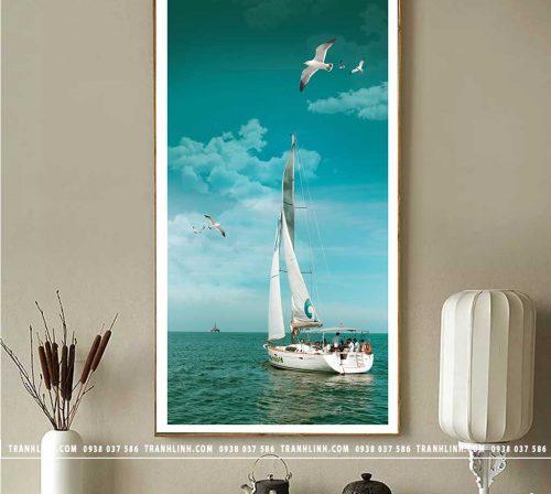 Bo tranh Canvas treo tuong trang tri phong khach phong canh PC1330