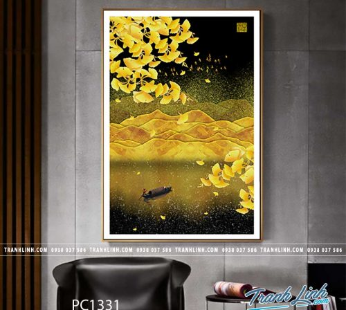 Bo tranh Canvas treo tuong trang tri phong khach phong canh PC1331