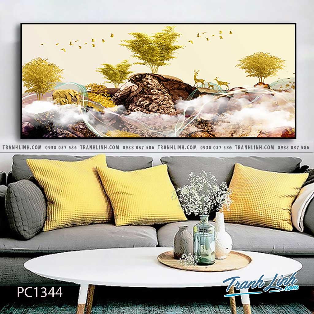 Bo tranh Canvas treo tuong trang tri phong khach phong canh PC1344 1