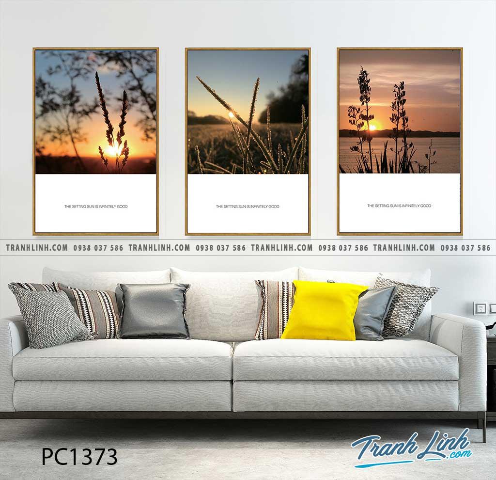 Bo tranh Canvas treo tuong trang tri phong khach phong canh PC1373
