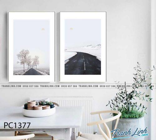 Bo tranh Canvas treo tuong trang tri phong khach phong canh PC1377