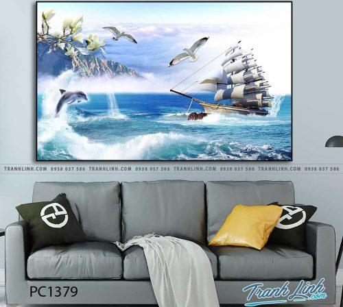 Bo tranh Canvas treo tuong trang tri phong khach phong canh PC1379