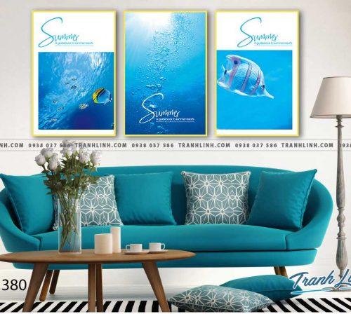 Bo tranh Canvas treo tuong trang tri phong khach phong canh PC1380