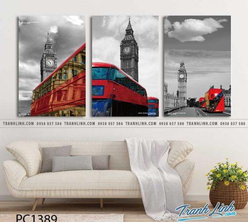 Bo tranh Canvas treo tuong trang tri phong khach phong canh PC1389