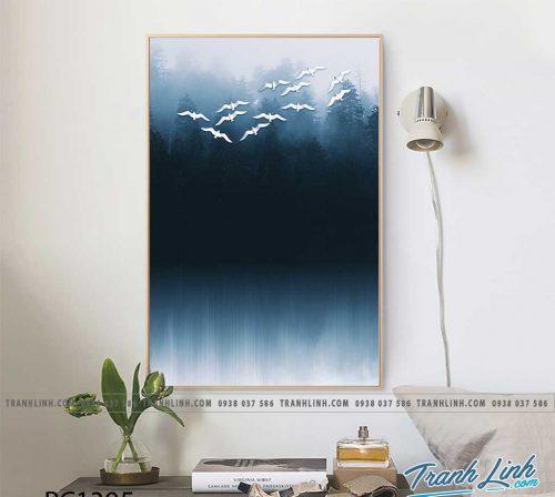Bo tranh Canvas treo tuong trang tri phong khach phong canh PC1395