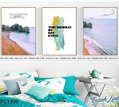 Bo tranh Canvas treo tuong trang tri phong khach phong canh PC1399