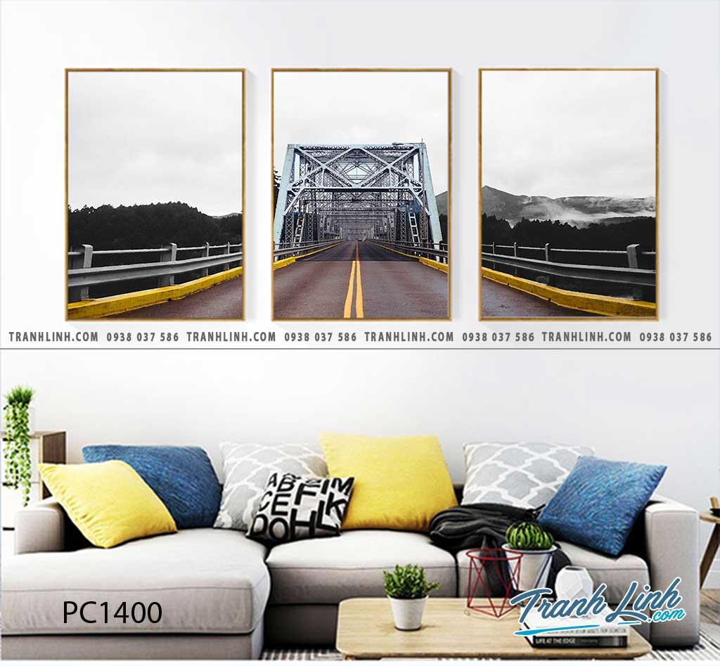 Bo tranh Canvas treo tuong trang tri phong khach phong canh PC1400