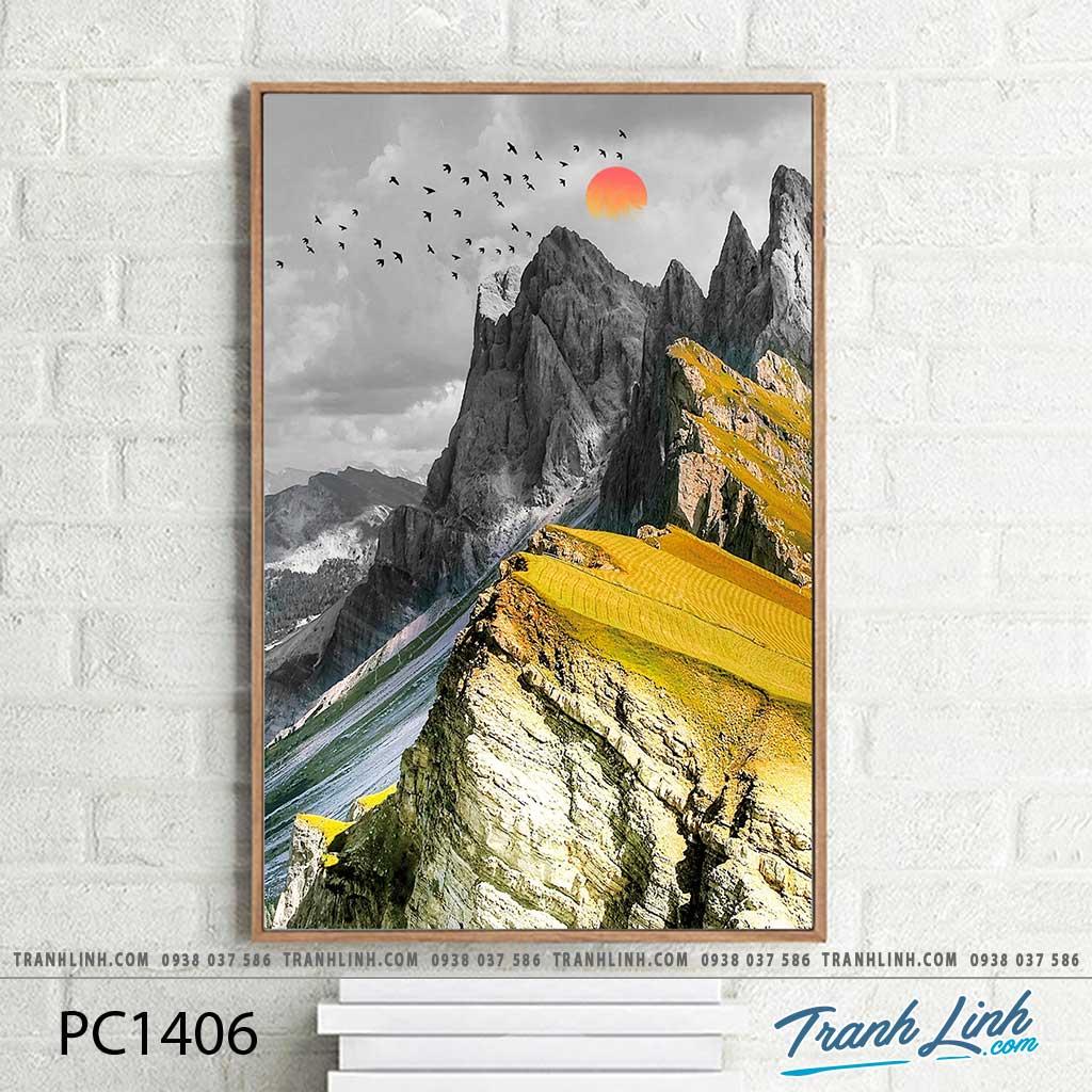 Bo tranh Canvas treo tuong trang tri phong khach phong canh PC1406