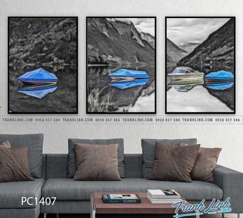 Bo tranh Canvas treo tuong trang tri phong khach phong canh PC1407