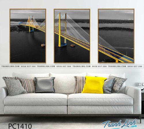 Bo tranh Canvas treo tuong trang tri phong khach phong canh PC1410