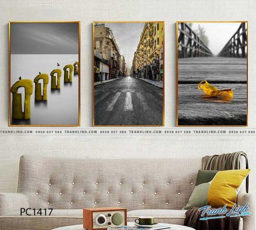 Bo tranh Canvas treo tuong trang tri phong khach phong canh PC1417
