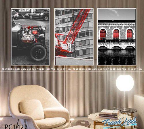 Bo tranh Canvas treo tuong trang tri phong khach phong canh PC1427