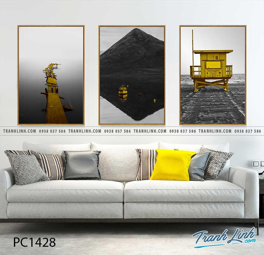 Bo tranh Canvas treo tuong trang tri phong khach phong canh PC1428
