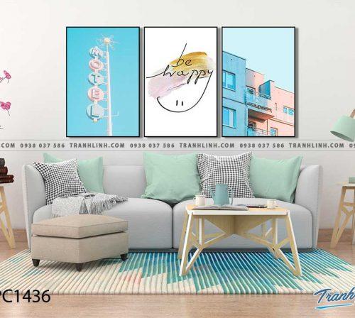 Bo tranh Canvas treo tuong trang tri phong khach phong canh PC1436