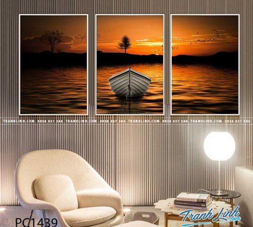 Bo tranh Canvas treo tuong trang tri phong khach phong canh PC1439