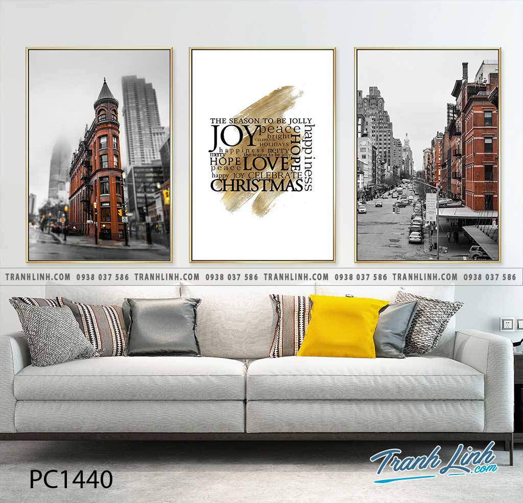 Bo tranh Canvas treo tuong trang tri phong khach phong canh PC1440