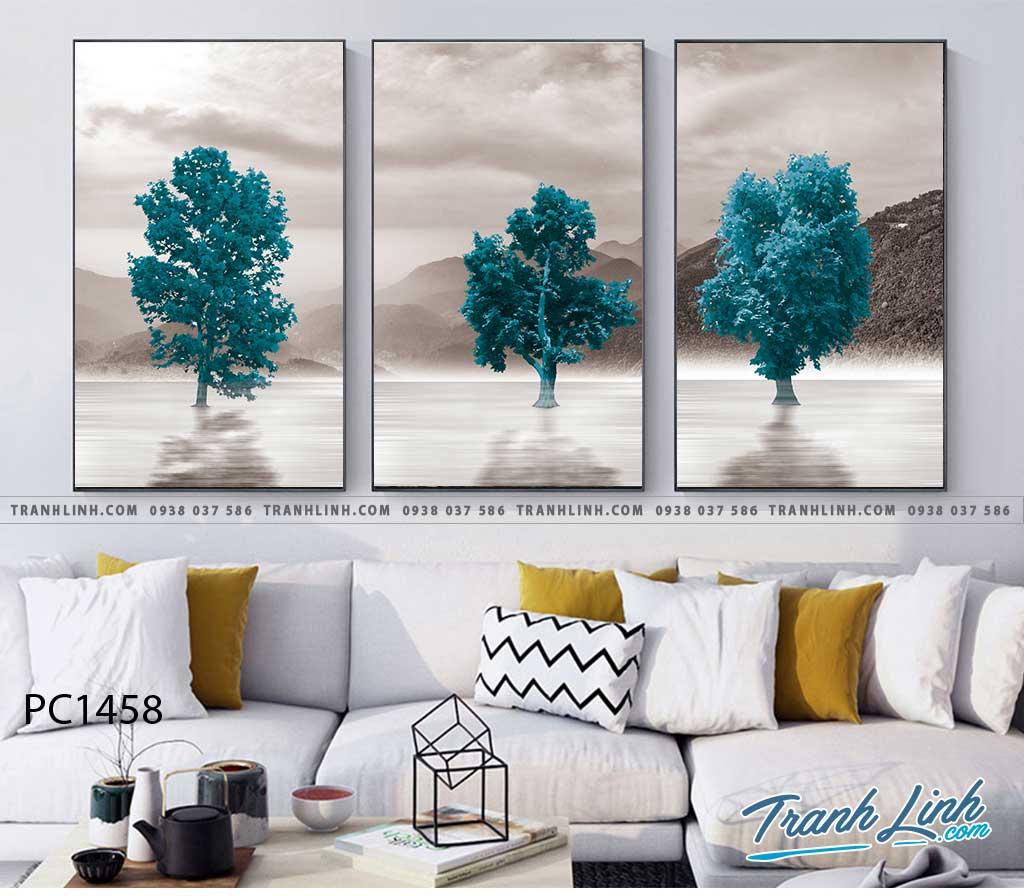 Bo tranh Canvas treo tuong trang tri phong khach phong canh PC1458