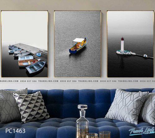 Bo tranh Canvas treo tuong trang tri phong khach phong canh PC1463
