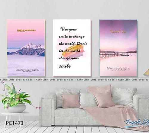 Bo tranh Canvas treo tuong trang tri phong khach phong canh PC1473