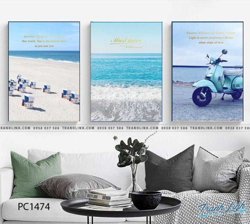 Bo tranh Canvas treo tuong trang tri phong khach phong canh PC1474
