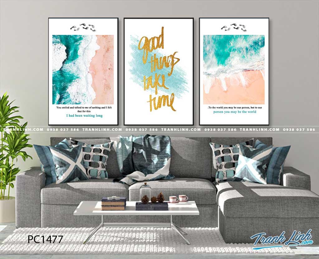 Bo tranh Canvas treo tuong trang tri phong khach phong canh PC1477