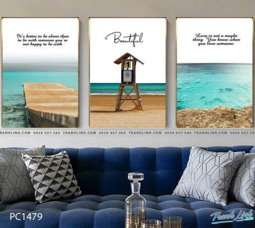 Bo tranh Canvas treo tuong trang tri phong khach phong canh PC1479