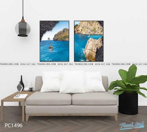 Bo tranh Canvas treo tuong trang tri phong khach phong canh PC1496