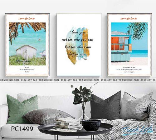 Bo tranh Canvas treo tuong trang tri phong khach phong canh PC1499