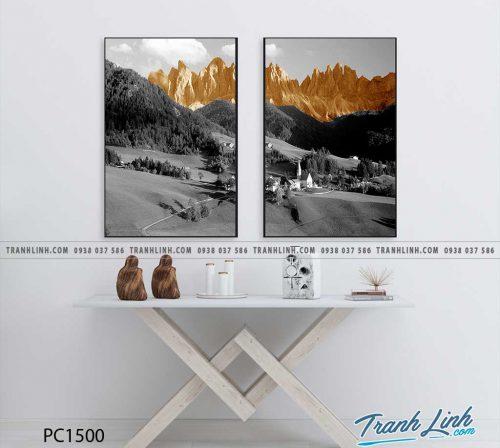 Bo tranh Canvas treo tuong trang tri phong khach phong canh PC1500