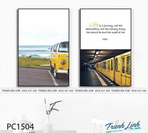 Bo tranh Canvas treo tuong trang tri phong khach phong canh PC1504