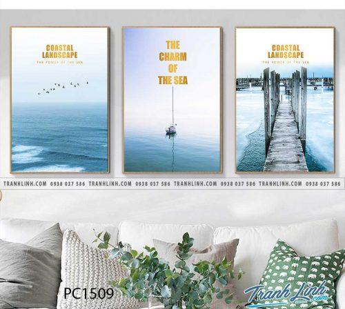 Bo tranh Canvas treo tuong trang tri phong khach phong canh PC1509