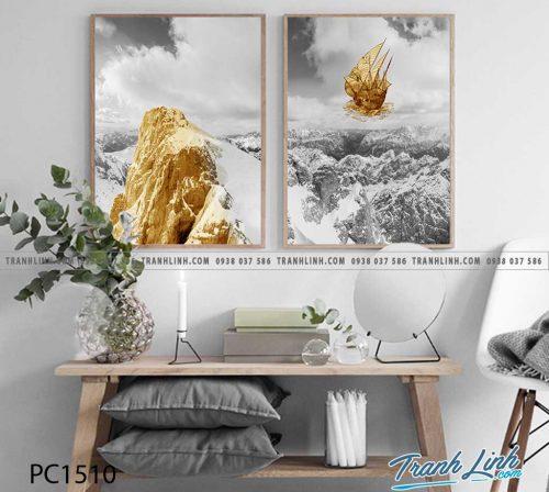 Bo tranh Canvas treo tuong trang tri phong khach phong canh PC1510
