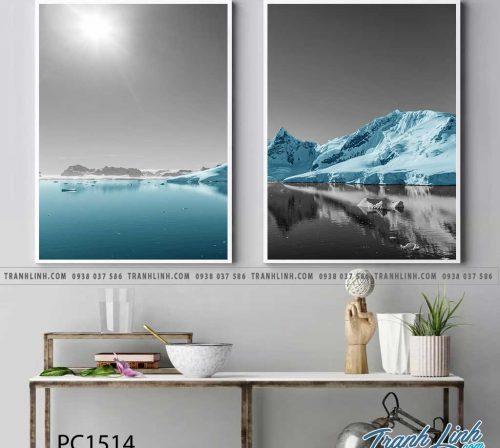 Bo tranh Canvas treo tuong trang tri phong khach phong canh PC1514
