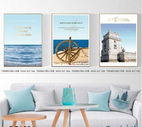 Bo tranh Canvas treo tuong trang tri phong khach phong canh PC1524