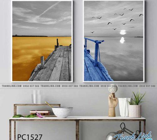 Bo tranh Canvas treo tuong trang tri phong khach phong canh PC1527