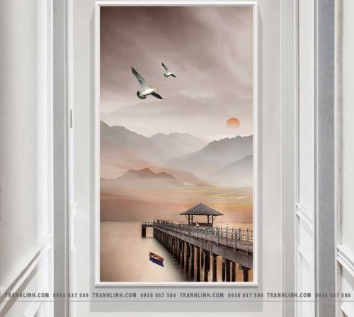 Bo tranh Canvas treo tuong trang tri phong khach phong canh PC1529