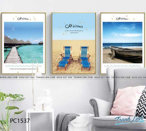 Bo tranh Canvas treo tuong trang tri phong khach phong canh PC1537
