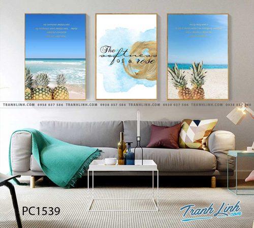 Bo tranh Canvas treo tuong trang tri phong khach phong canh PC1539