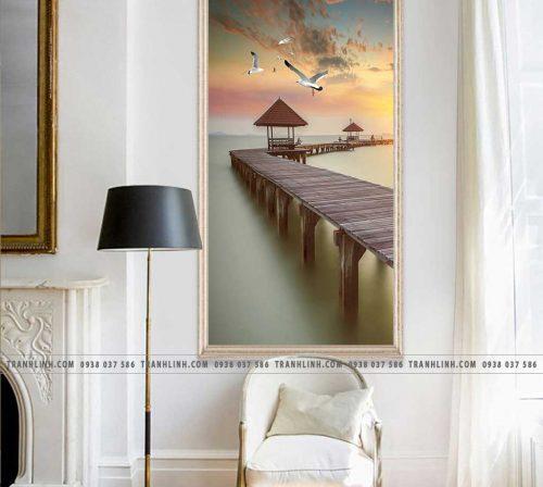 Bo tranh Canvas treo tuong trang tri phong khach phong canh PC1544