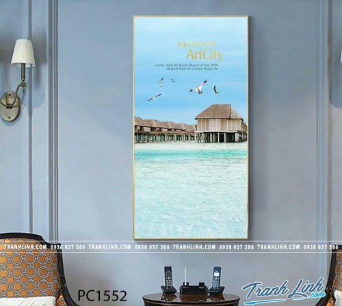 Bo tranh Canvas treo tuong trang tri phong khach phong canh PC1552