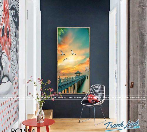 Bo tranh Canvas treo tuong trang tri phong khach phong canh PC1554