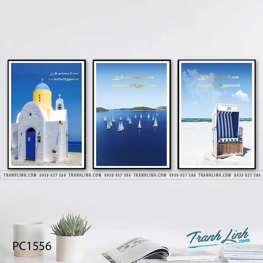 Bo tranh Canvas treo tuong trang tri phong khach phong canh PC1556