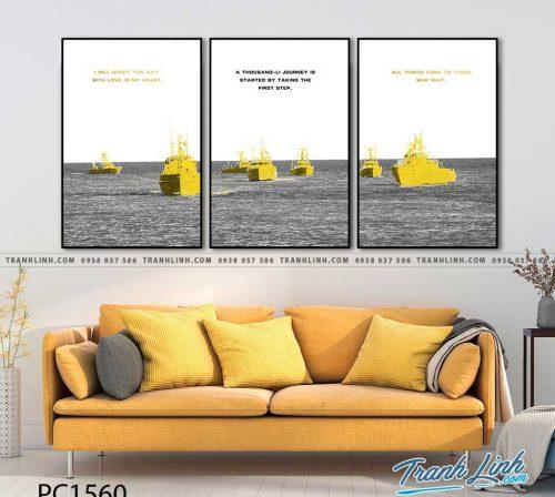 Bo tranh Canvas treo tuong trang tri phong khach phong canh PC1560