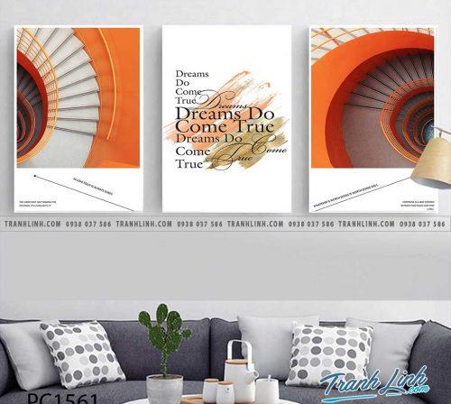 Bo tranh Canvas treo tuong trang tri phong khach phong canh PC1561