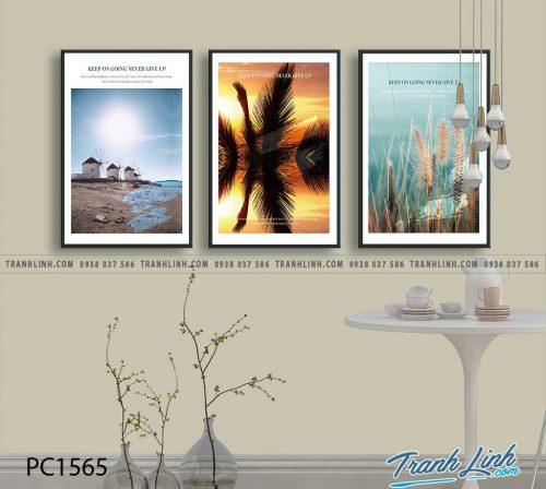 Bo tranh Canvas treo tuong trang tri phong khach phong canh PC1565
