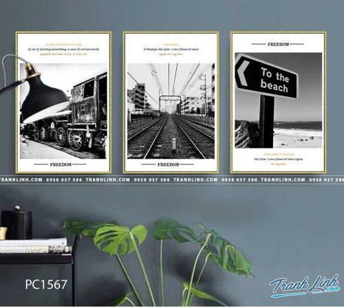 Bo tranh Canvas treo tuong trang tri phong khach phong canh PC1567